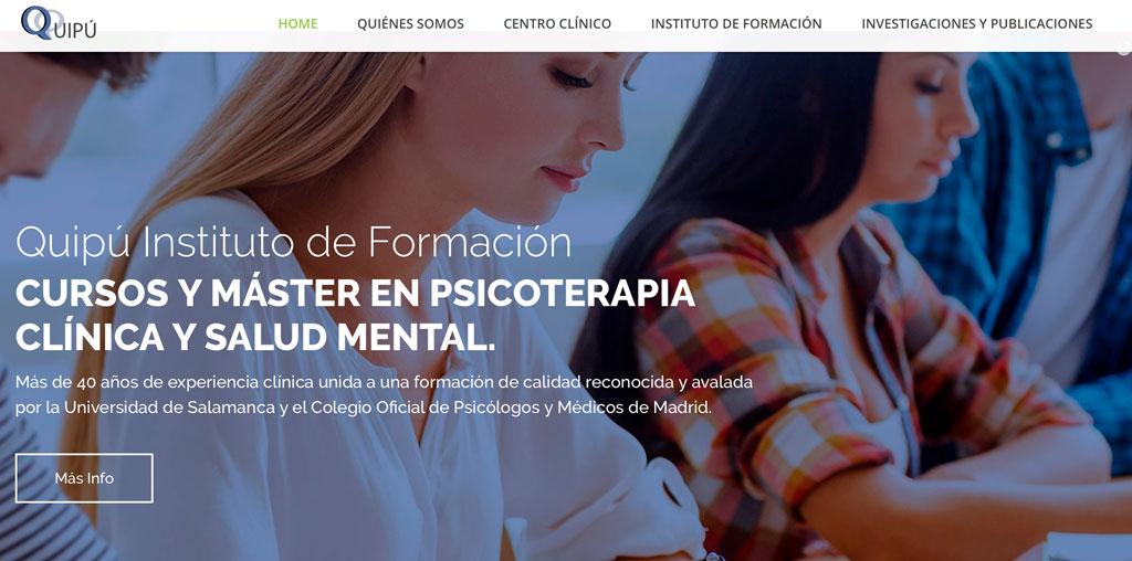 Nueva web Quipu Psicólogos e Instituto de Formación