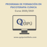 Programa de Formación en Psicoterapia Clínica curso 2020/21