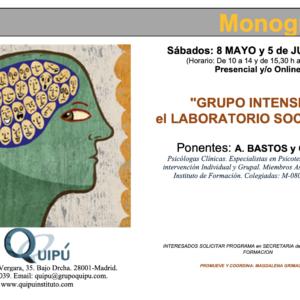 cartel curso monográfico grupo intensivo quipu formación psicólogos