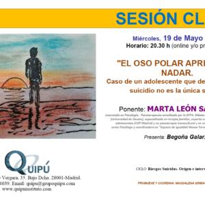 cartel sesión clínica Quipú instituto formación psicólogos Madrid